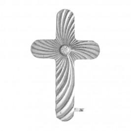 Croce Clergyman Rigata in Argento