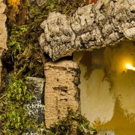 Grotta per il Presepe con 10 Luci Batteria