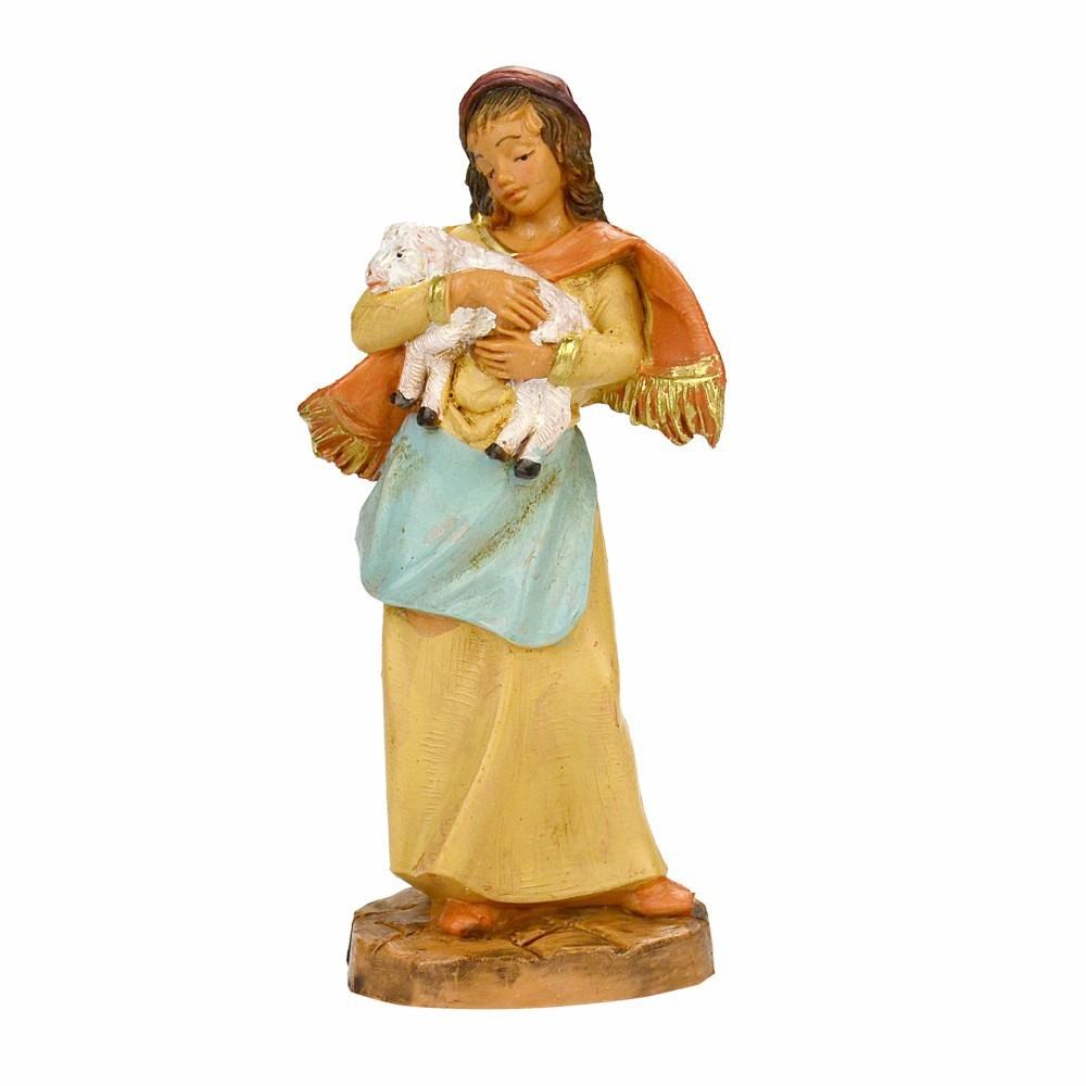 Donna con Pecorella Fontanini 9,5 cm