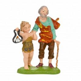 Pastore Anziano con Bimbo Fontanini cm 10