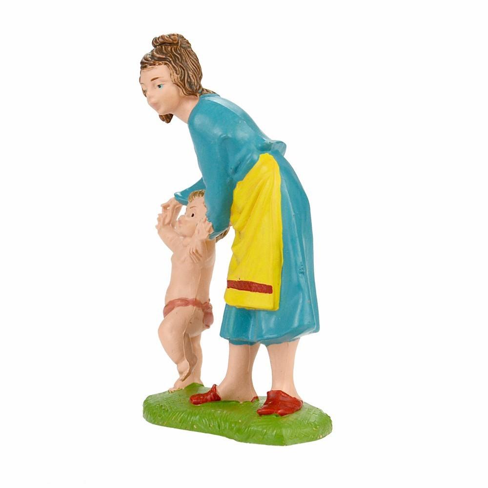 Donna con Bambino Fontanini cm 10