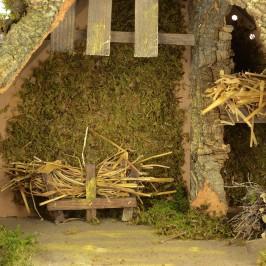 Capanna per Presepe con Luci 50x23x35 cm