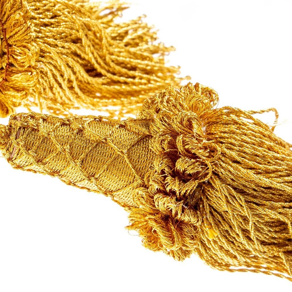 Cingolo Oro con Fiocchi in Legno