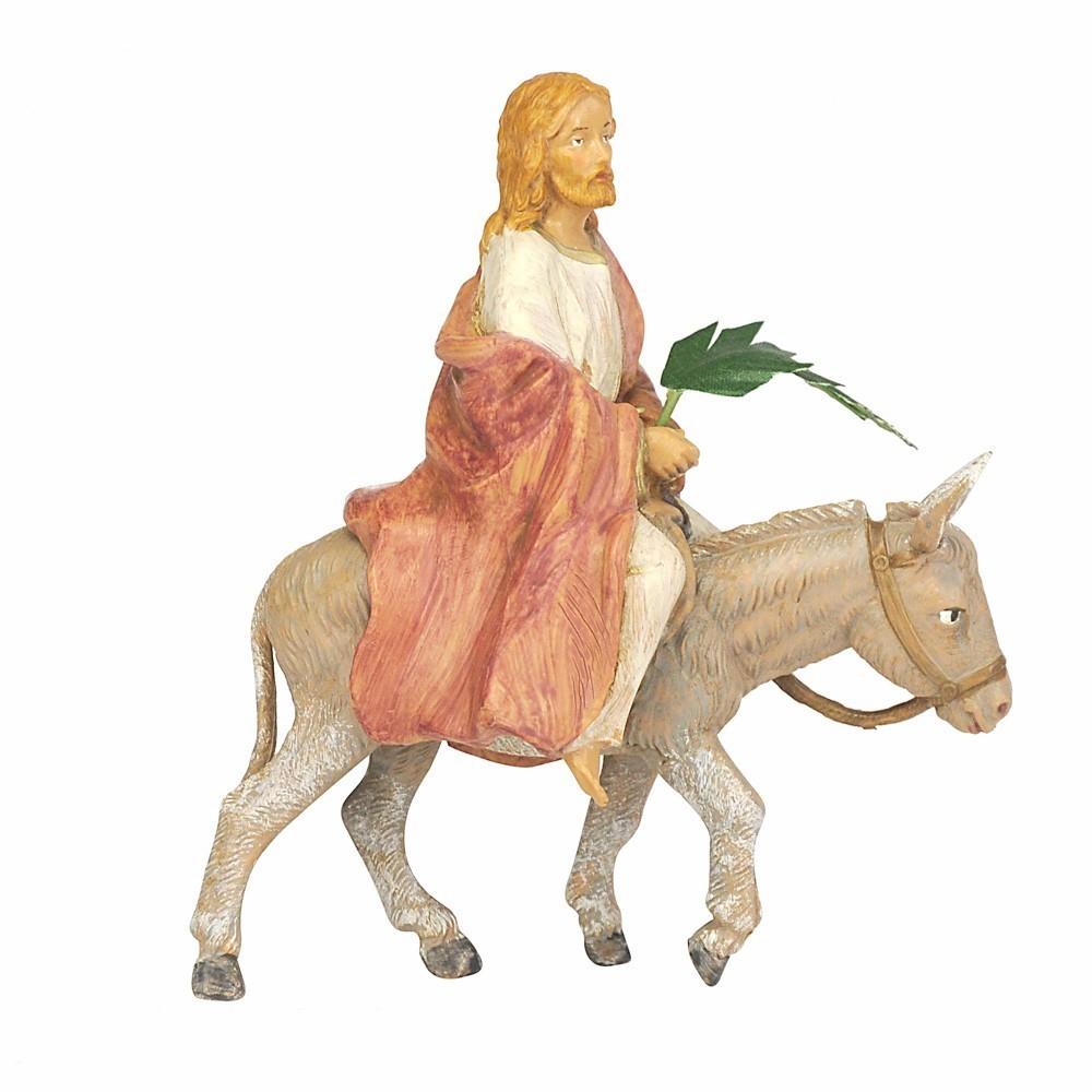 Gesù su Asinello Fontanini 12 cm