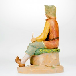 Statua Cestaio Fontanini 12  cm