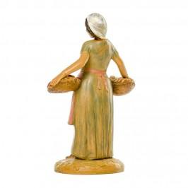 Pastorella con Cesti Fontanini 12 cm