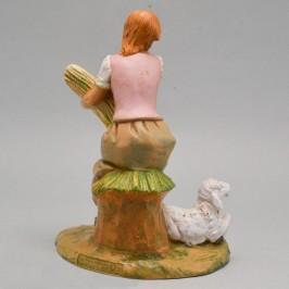 Statua Pastorella Seduta Fontanini