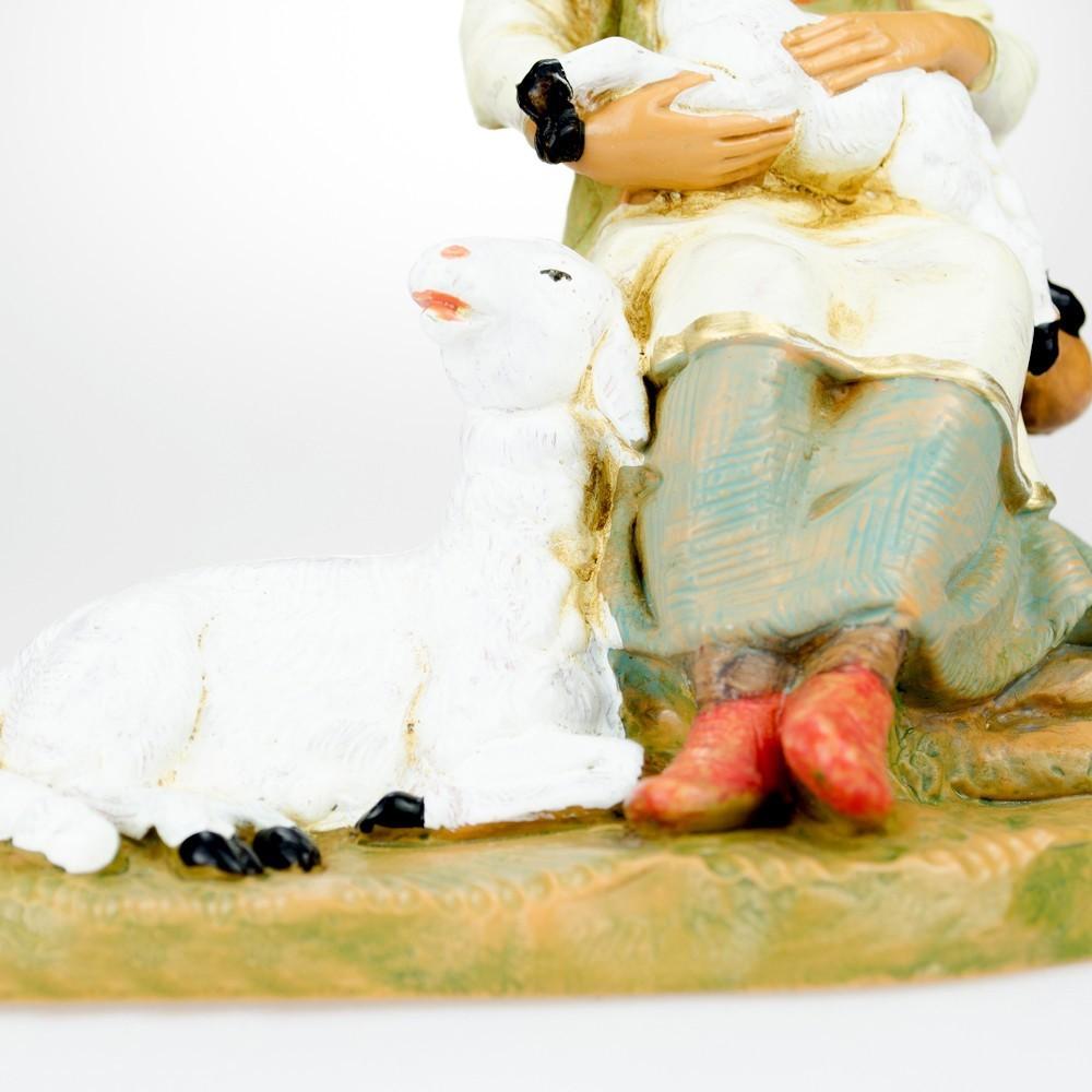 Pastorella con Pecore Fontanini cm 19