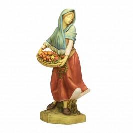 Donna con Cesto Frutta Fontanini cm 52