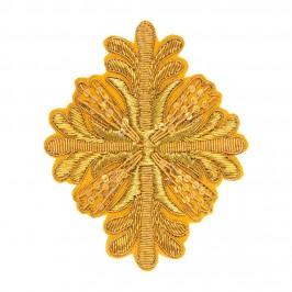 Applicazione Croce Ricamata in Oro