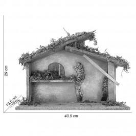 Capanna con Muschio e Sughero per 12 cm