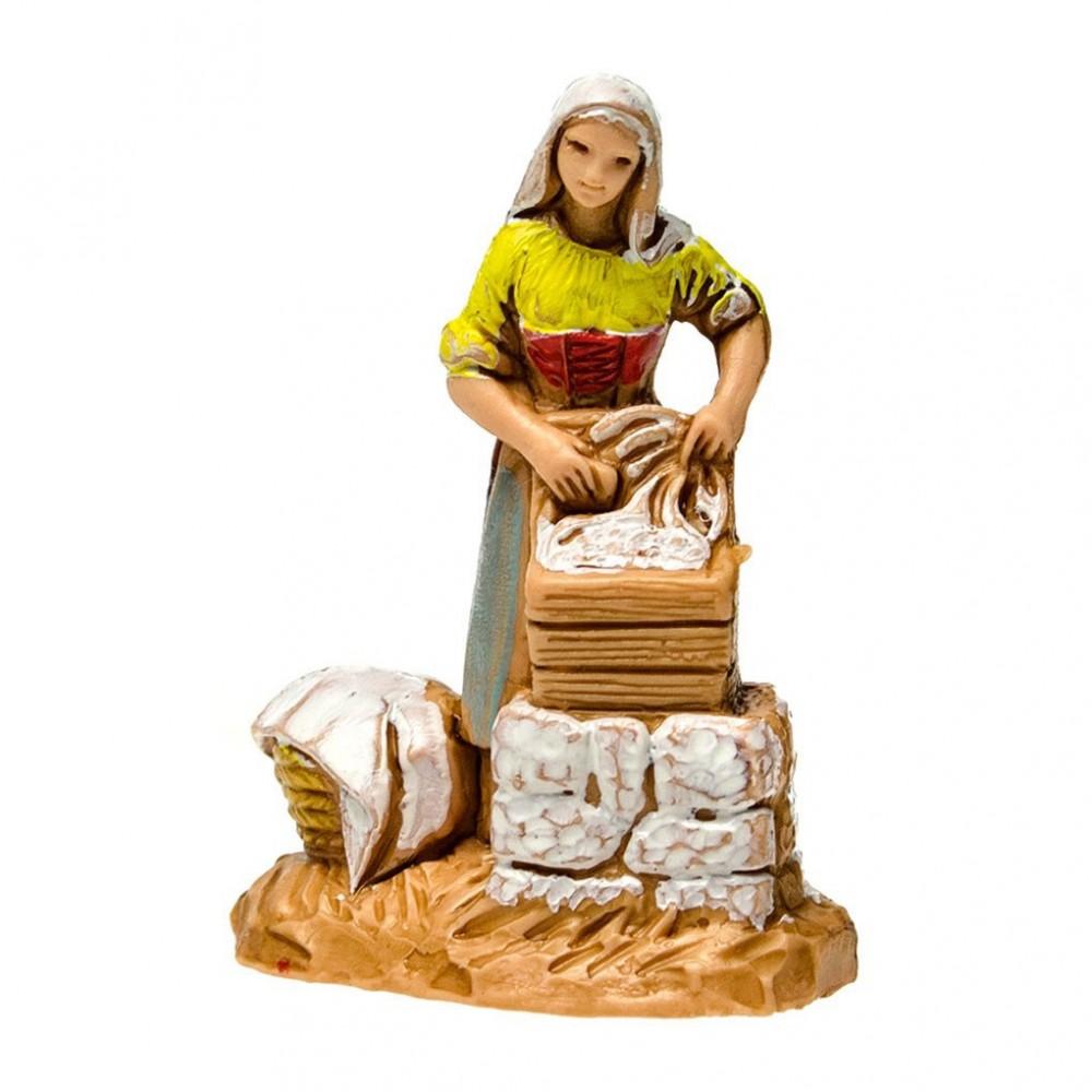 Statuina della Lavandaia per il Presepe Landi 3,5 cm.