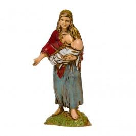 Zingara con Bambino in Fasce per il Presepe