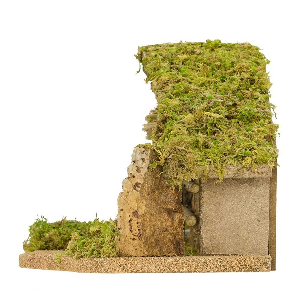 Capanna con Carillon per il Presepe 6,5 cm