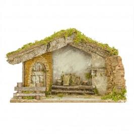 Capanna con Porta in Legno per 12 cm