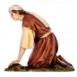 Pastore Inginocchiato con Agnello Landi 15 cm
