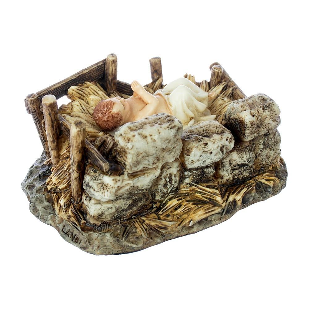 Gesù Bambino con Culla in Resina