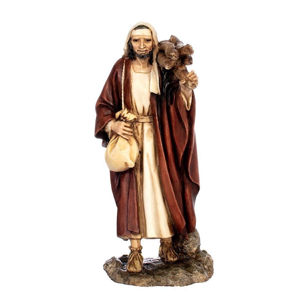 Pastore con Legna 15 cm in Resina
