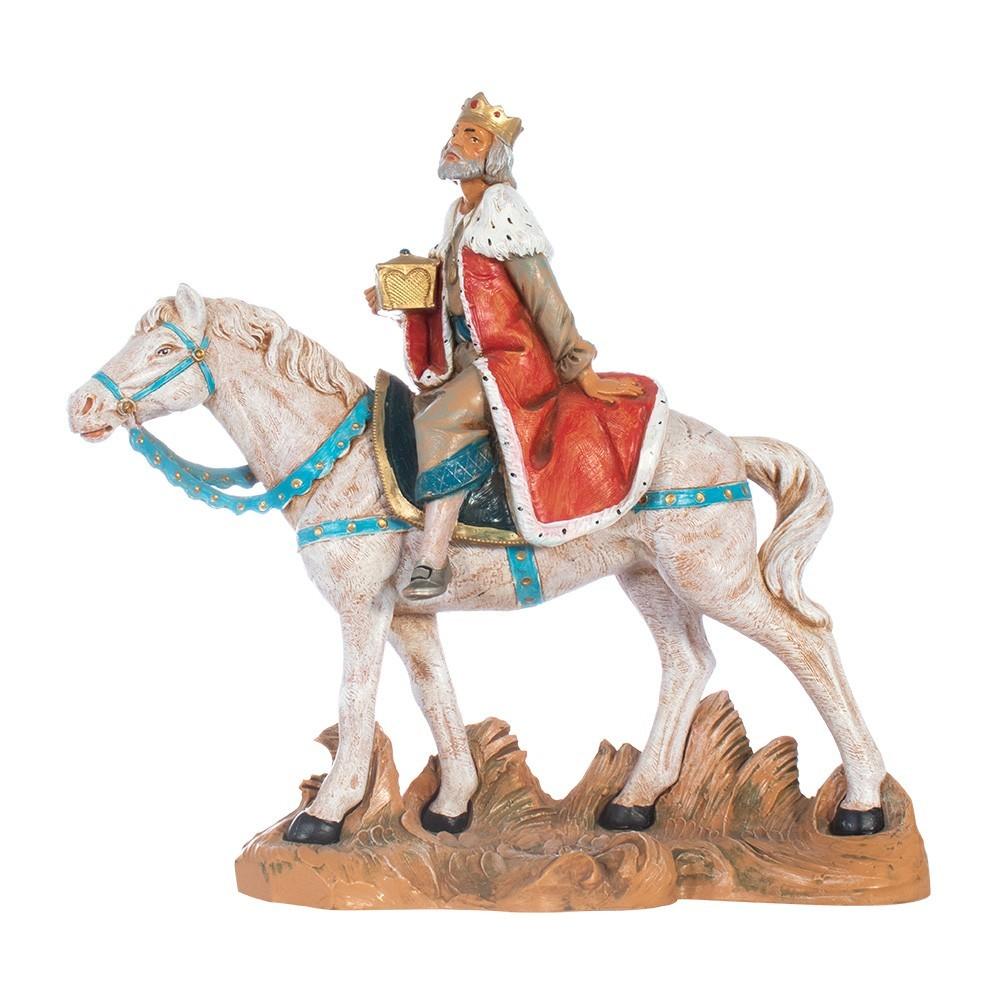 Re Bianco su Cavallo Fontanini 19 cm