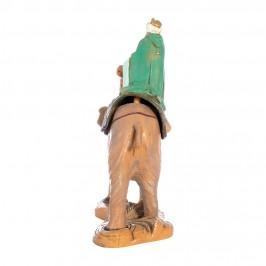 Re Mulatto su Elefante Fontanini 19 cm