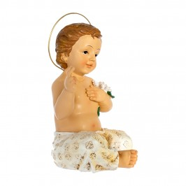 Statua Bambinello in Resina Seduto