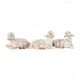 Set Tre Pecore Sedute Fontanini 10 cm
