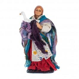 Donna con Oca in Terracotta