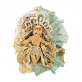 Gesù Bambino Presepe Terracotta 10 cm