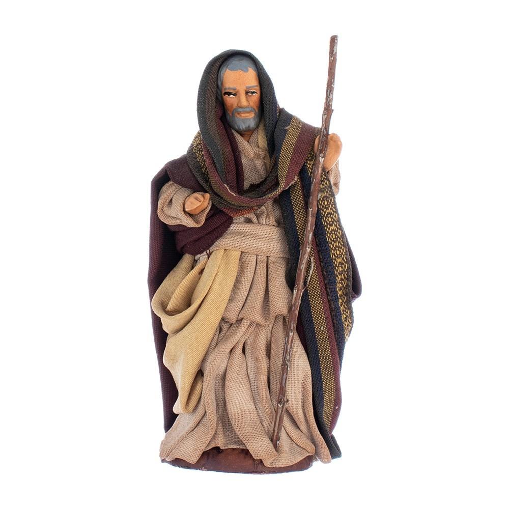 San Giuseppe in Terracotta Presepe Napoletano.