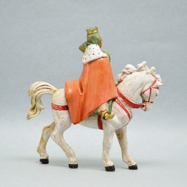 Re Magio Bianco a Cavallo