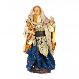 Donna Con Salumi in Terracotta
