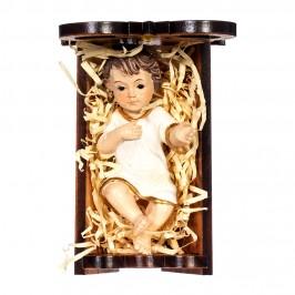 Culla Legno Ulivo con Gesù Bambino