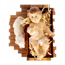 Gesù Bambino con Culla in Legno Ulivo