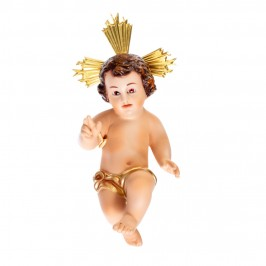 Gesù Bambino in Gesso h 20 cm