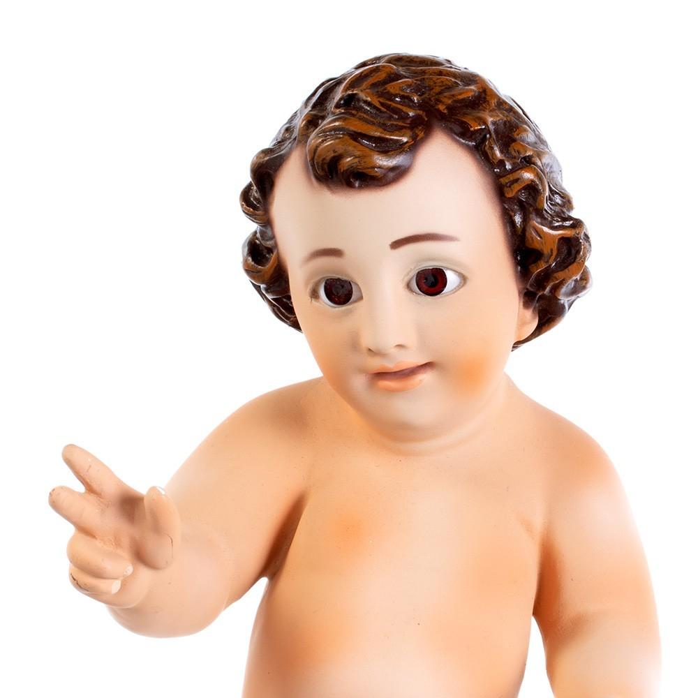 Statua Gesù Bambino in Gesso h 30 cm