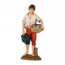 Pescatore con Cesto per il Presepe 12 cm