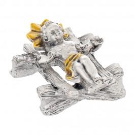 Culla e Gesù Bambino in Metallo
