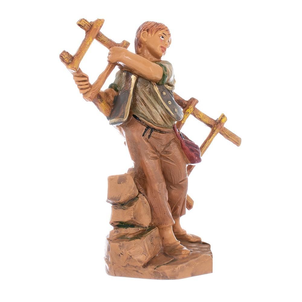 Statua Pastorello con Scala Fontanini