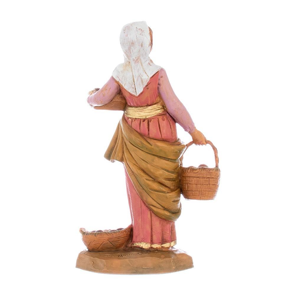 Donna con Tre Cesti 12 cm Fontanini