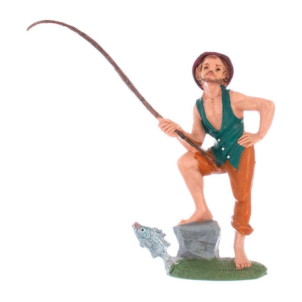 Pescatore con Canna Fontanini 12 cm
