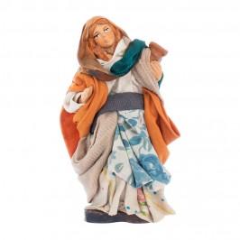 Donna con Anfora in Terracotta cm 10