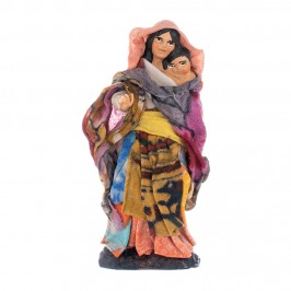Pastore Donna con Bambino 8 cm