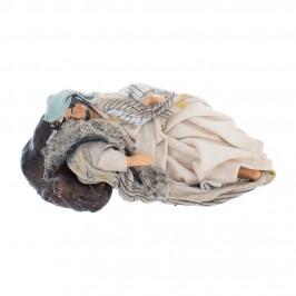Pastore Dormiente in Terracotta cm 12