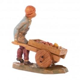 Bimbo con carretto Fontanini 12 cm