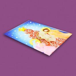 Gesù Bambino Fosforescente Con Cartoncino