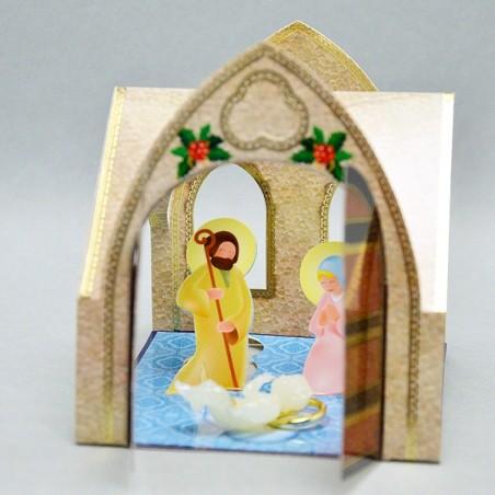Gesù Bambino Fosforescente Con Presepe