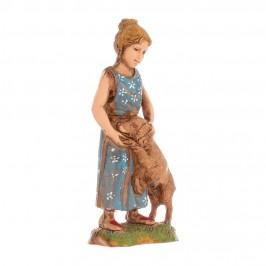 Bambina con Cane Landi cm 10