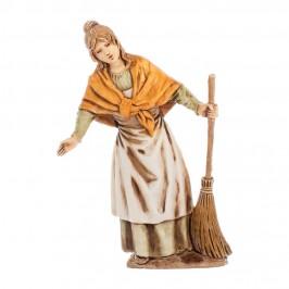 Donna con Scopa Landi 10 cm