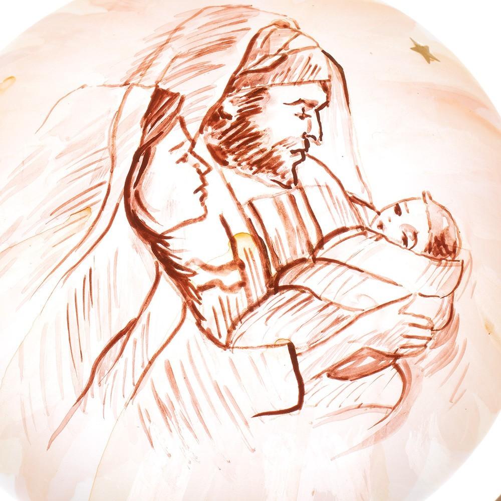 Palla di Natale Vetro con Sacra Famiglia