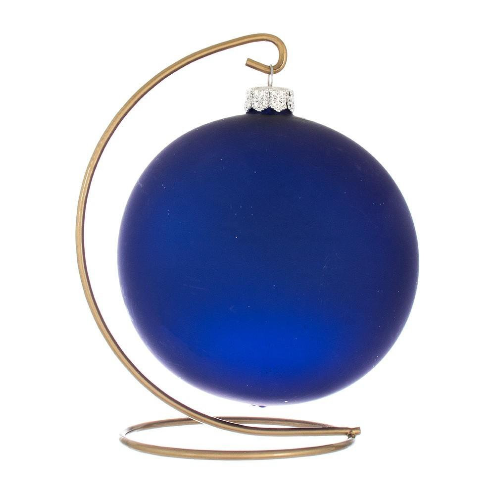 Palla Decorata in Vetro Blu